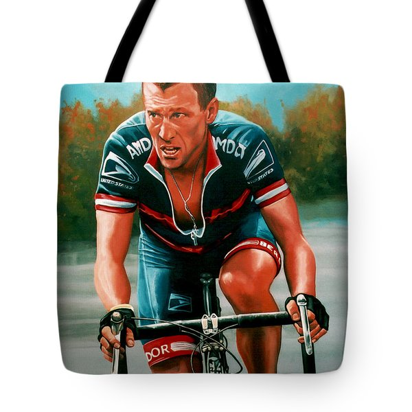 Lance Armstrong Tote Bag by Paul  Meijering