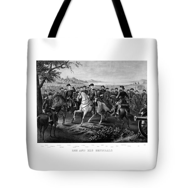 Lee And His Generals Tote Bag by War Is Hell Store