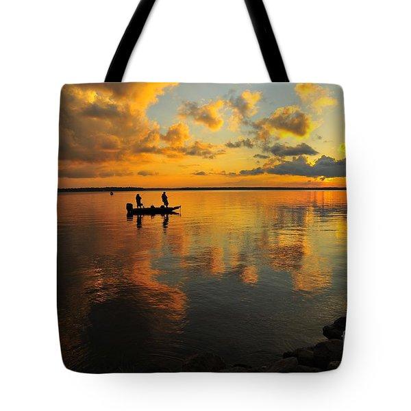 Liquid Gold Tote Bag by Terri Gostola