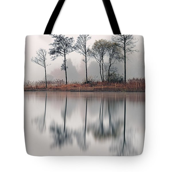 Loch Ard Reflections Tote Bag by Grant Glendinning