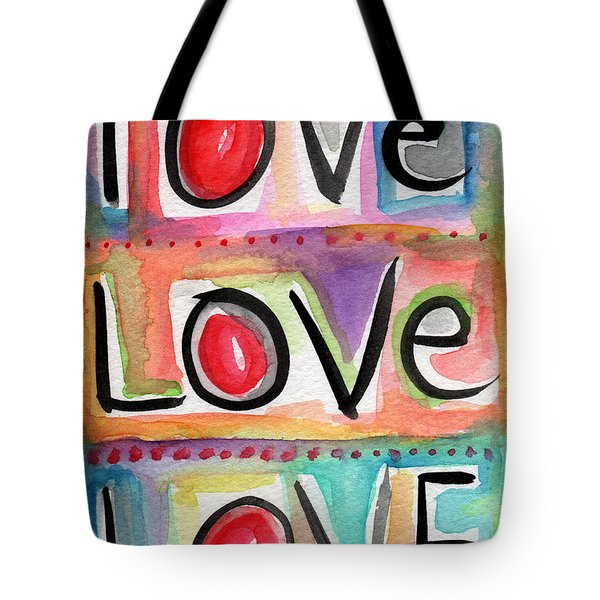Love Tote Bag by Linda Woods