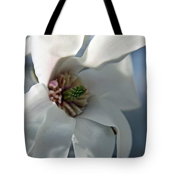 Magnolia In Watercolor Tote Bag by Carolyn Stagger Cokley