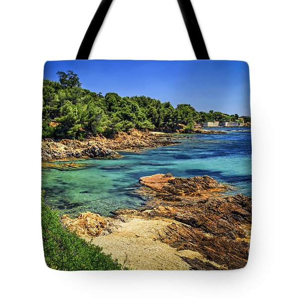 Mediterranean Coast Of French Riviera Tote Bag by Elena Elisseeva