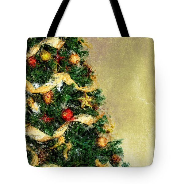 Merry Xmas Tote Bag by Angela Doelling AD DESIGN Photo and PhotoArt