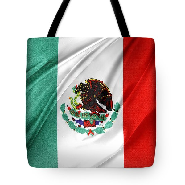 Mexican Flag Tote Bag by Les Cunliffe