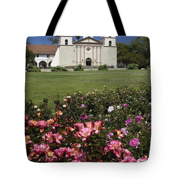 Mission Santa Barbara Tote Bag by Michele Burgess