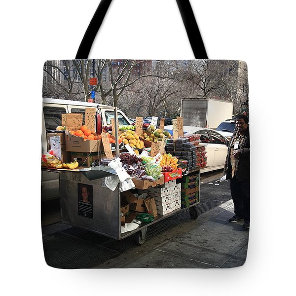 New York Street Vendor Tote Bag by Frank Romeo