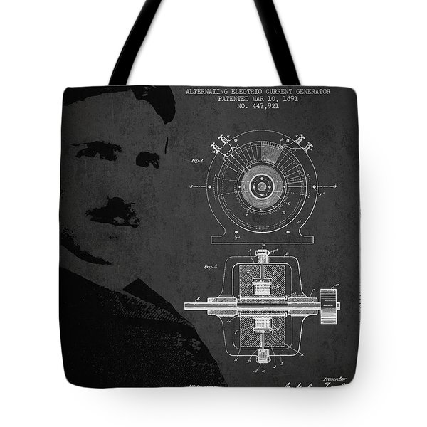 Nikola Tesla Patent From 1891 Tote Bag by Aged Pixel