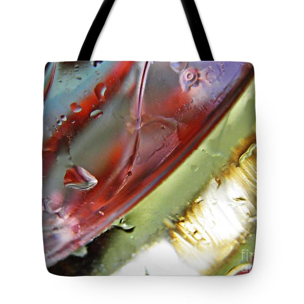 Oil And Water 27 Tote Bag by Sarah Loft