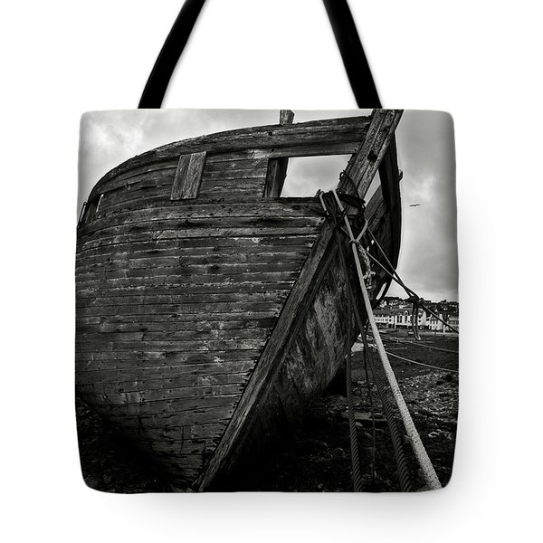 Old abandoned ship Tote Bag by RicardMN Photography