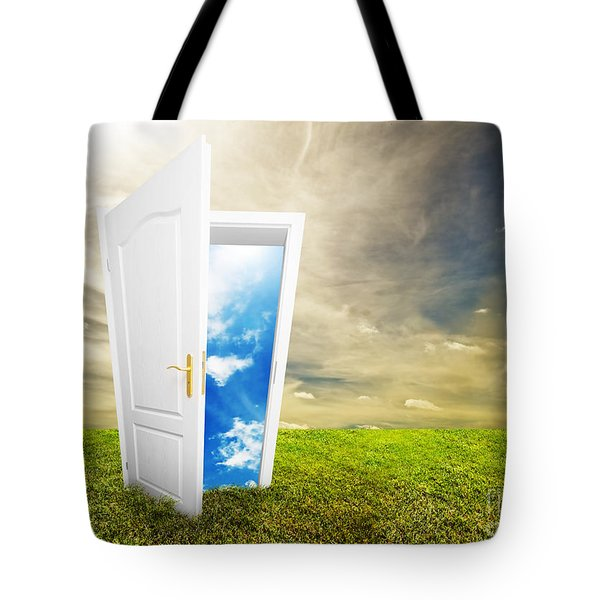 Open Door To New Life Tote Bag by Michal Bednarek
