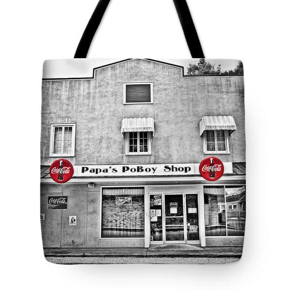 Papa's Poboy Shop Tote Bag by Scott Pellegrin