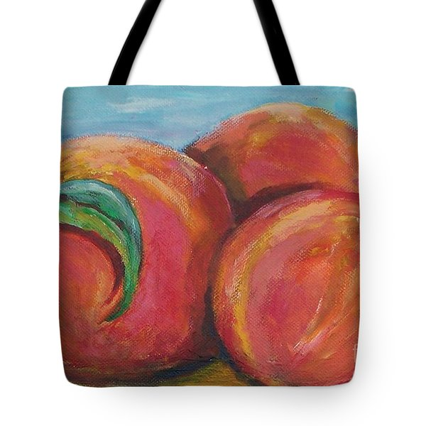 Peaches Tote Bag by Eric  Schiabor