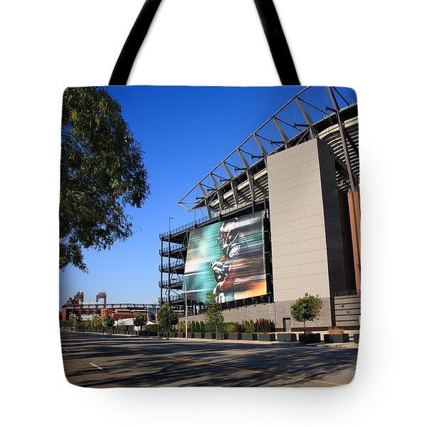 Philadelphia Eagles - Lincoln Financial Field Tote Bag by Frank Romeo