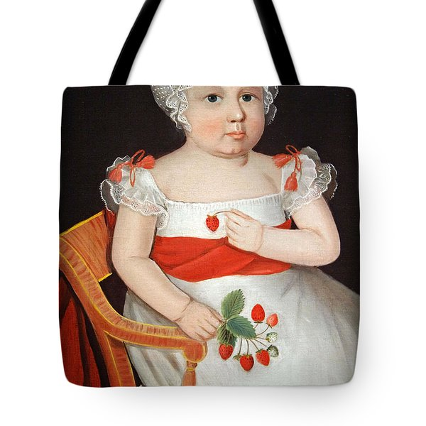 Phillips' The Strawberry Girl Tote Bag by Cora Wandel