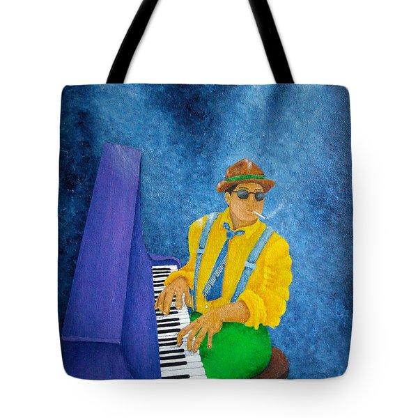 Piano Man Tote Bag by Pamela Allegretto