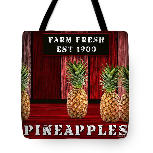Pineapple Farm Tote Bag by Marvin Blaine