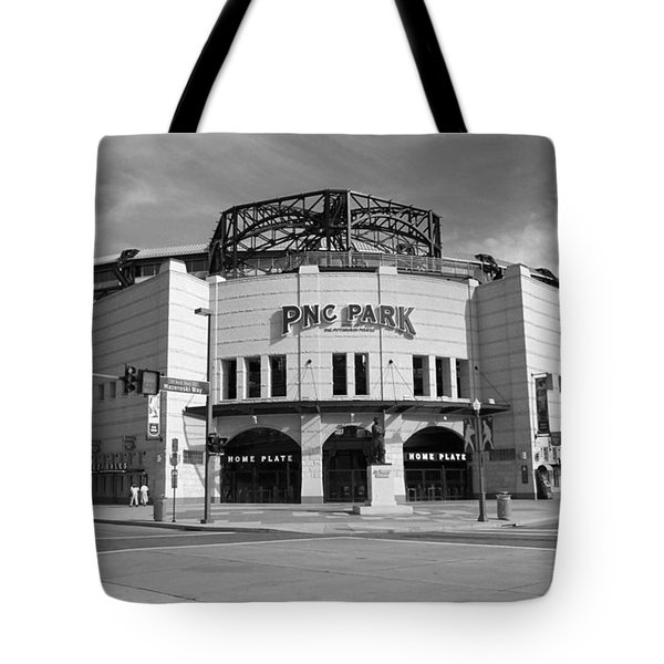 Pnc Park - Pittsburgh Pirates Tote Bag by Frank Romeo