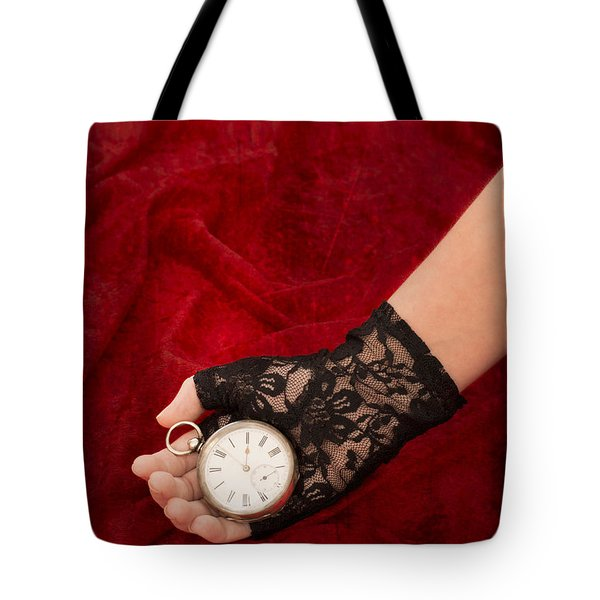 Pocket Watch Tote Bag by Amanda Elwell