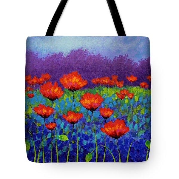 Poppy Meadow Tote Bag by John  Nolan