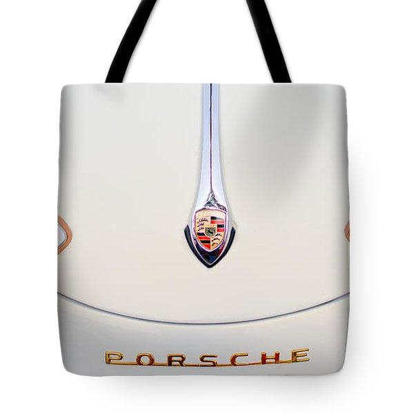 Porsche 1600 Hood Emblem Tote Bag by Jill Reger