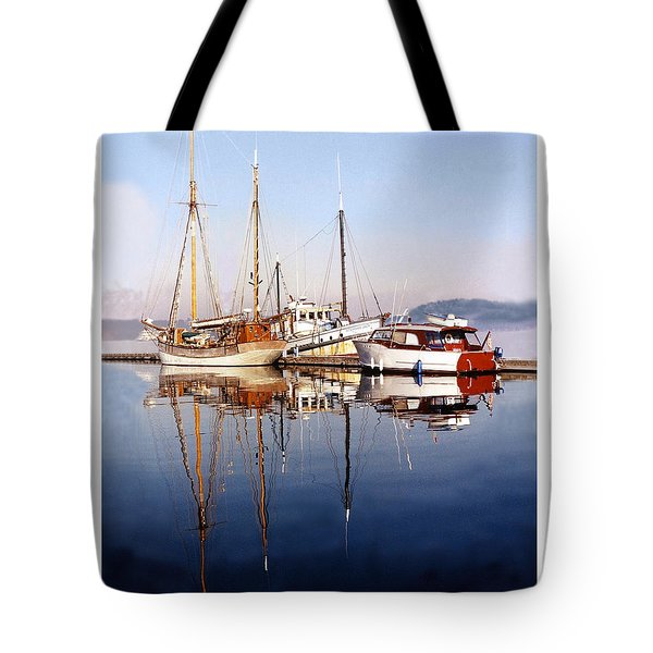 Reflections Port Orchard Marina Tote Bag by Jack Pumphrey