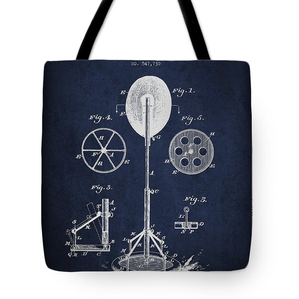 Punching Apparatus Patent Drawing from1895 Tote Bag by Aged Pixel