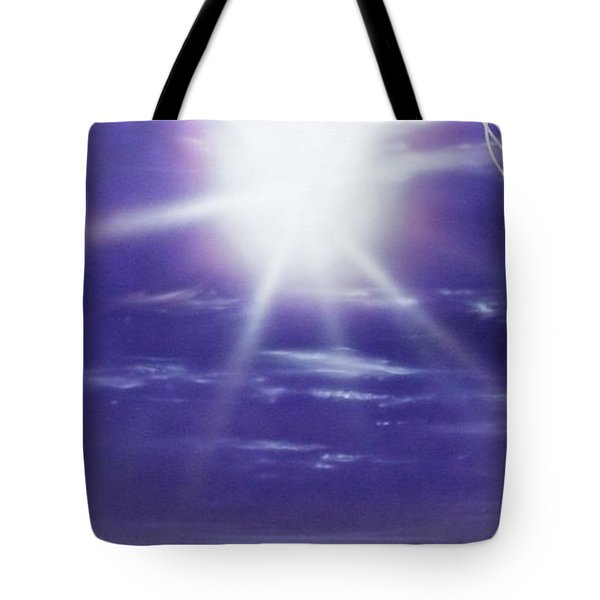 'purple Aura' Tote Bag by Christian Chapman Art