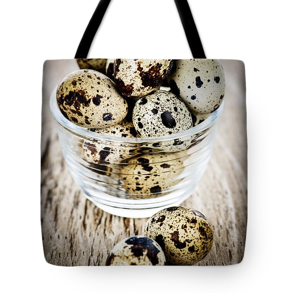 Quail eggs Tote Bag by Elena Elisseeva