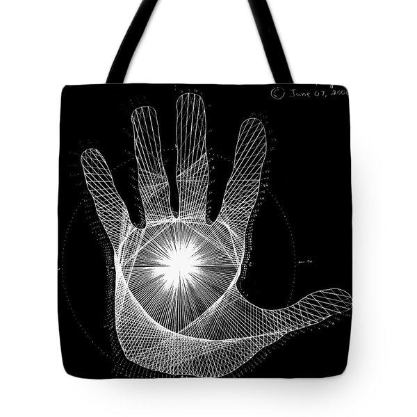 Quantum Hand Through My Eyes Tote Bag by Jason Padgett