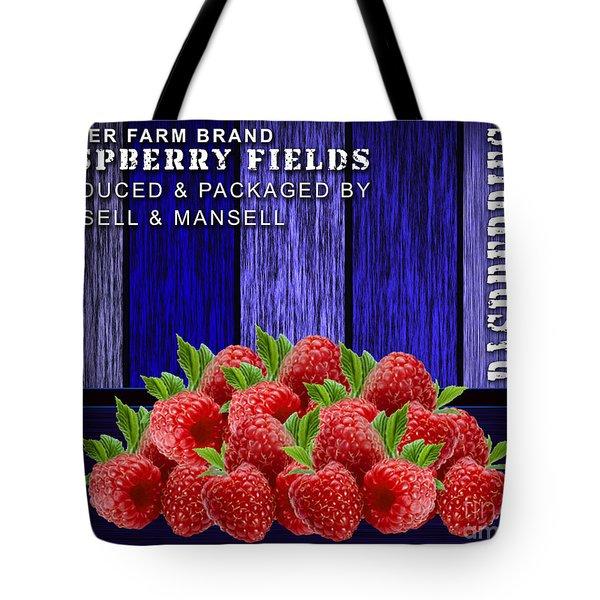 Raspberry Fields Tote Bag by Marvin Blaine