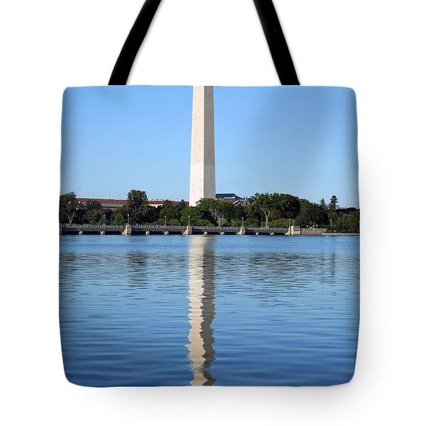 Roosevelt Looking At Washington Tote Bag by Cora Wandel
