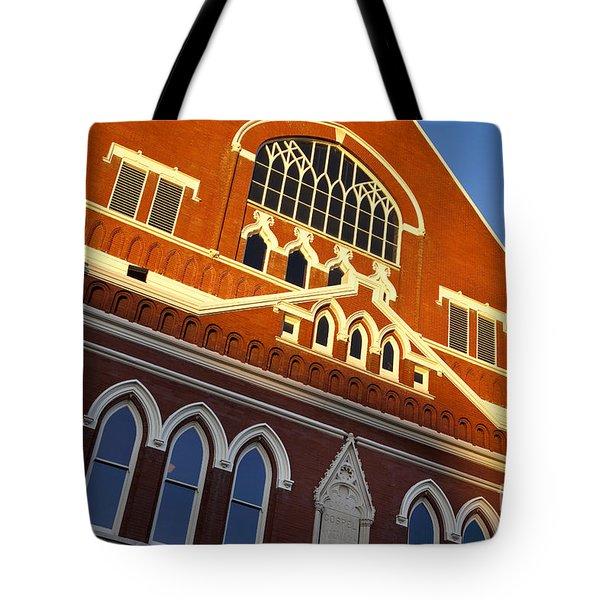 Ryman Auditorium Tote Bag by Brian Jannsen