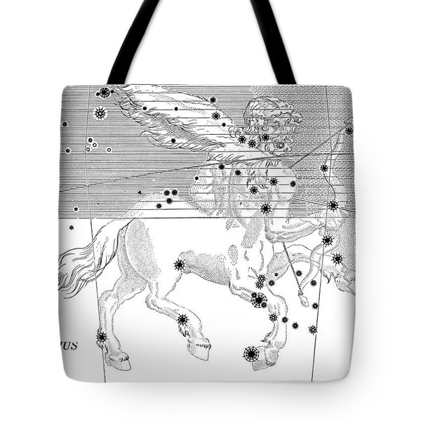 Sagittarius Constellation Zodiac Sign Tote Bag by Science Source