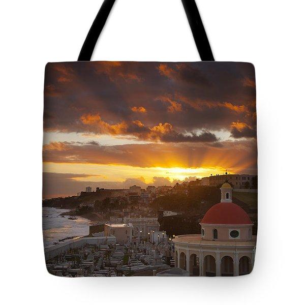 San Juan Sunrise Tote Bag by Brian Jannsen
