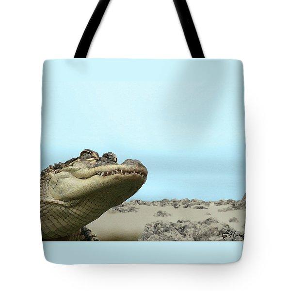 See You Later Alligator Tote Bag by Ellen Henneke