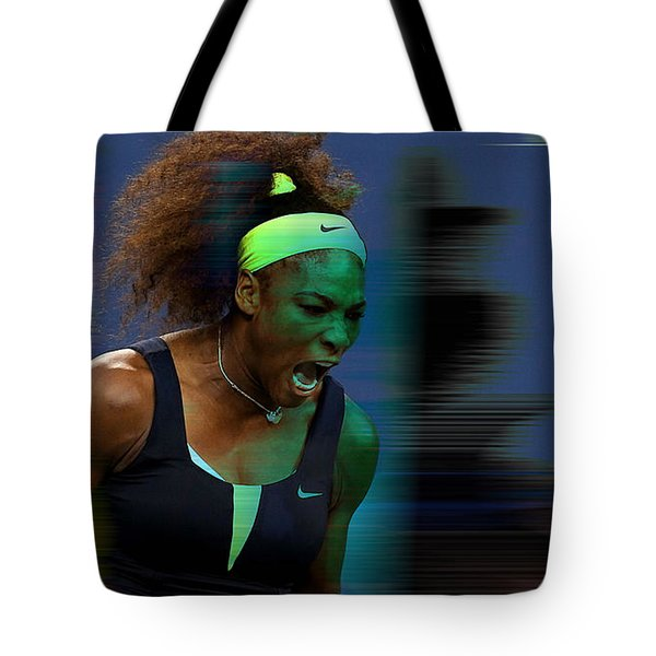 Serena Williams Tote Bag by Marvin Blaine