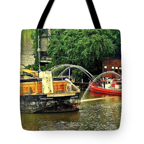 Ship Shape Tote Bag by Frozen in Time Fine Art Photography