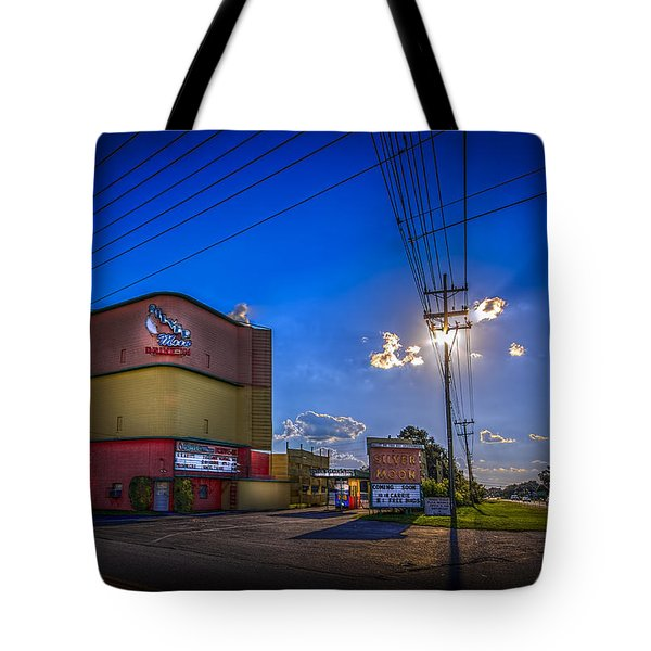 Silver Moon Tote Bag by Marvin Spates