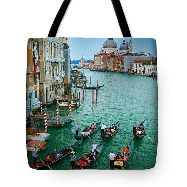Six Gondolas Tote Bag by Inge Johnsson