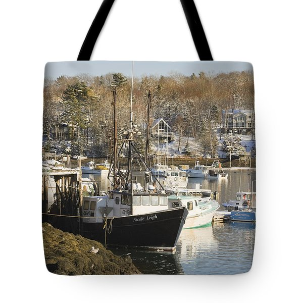South Bristol And Fishing Boats On The Coast Of Maine Tote Bag by Keith Webber Jr