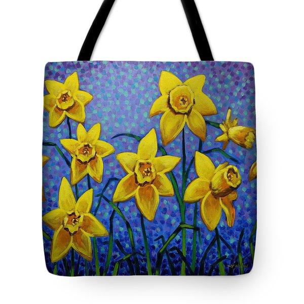 Spring Daffodils Tote Bag by John  Nolan