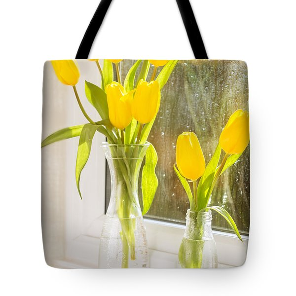 Spring Tulips Tote Bag by Amanda Elwell
