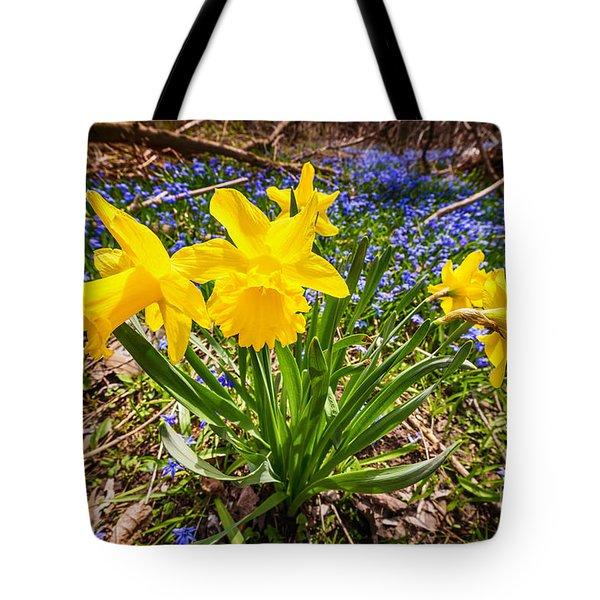 Spring Wildflowers Tote Bag by Elena Elisseeva