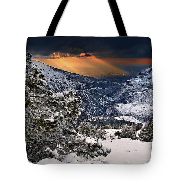 Sun Rays Tote Bag by Guido Montanes Castillo
