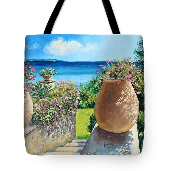 Sunny Terrace Tote Bag by Jean-Marc Janiaczyk