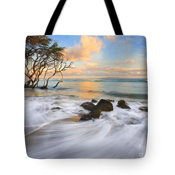 Sunset Tides Tote Bag by Mike  Dawson