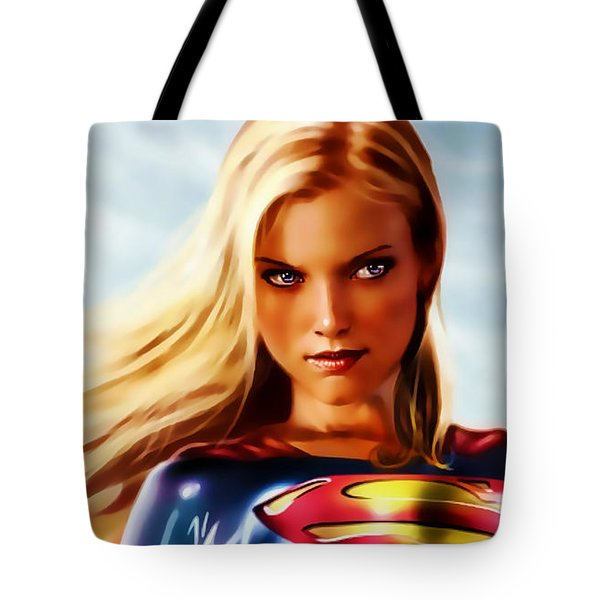 Supergirl Tote Bag by Marvin Blaine