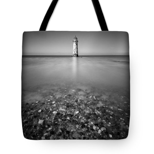 Talacre Lighthouse Tote Bag by Dave Bowman