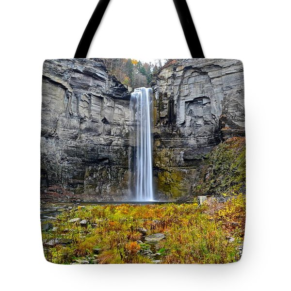 Taughannock Falls Tote Bag by Frozen in Time Fine Art Photography